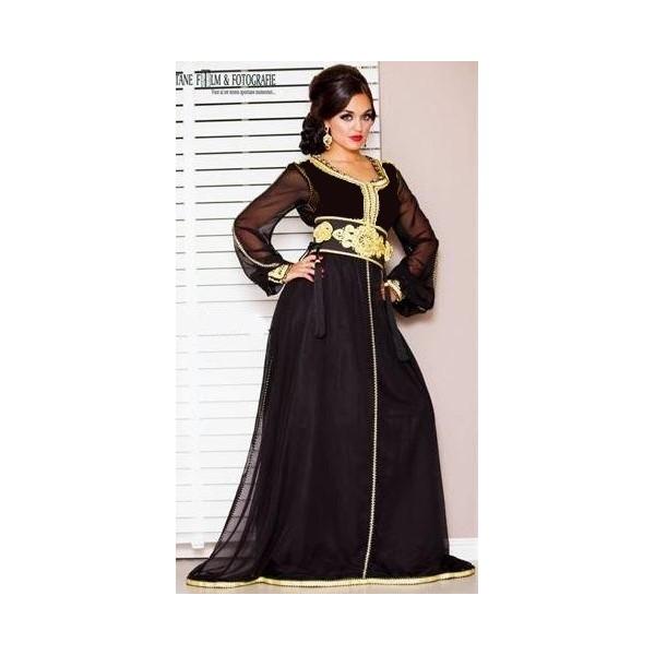 caftan robe marocain noir 194