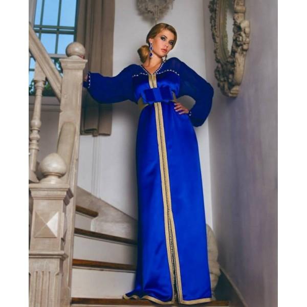 modèle caftan bleu 198