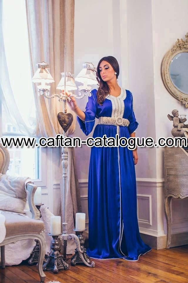 Caftan marocain bleu