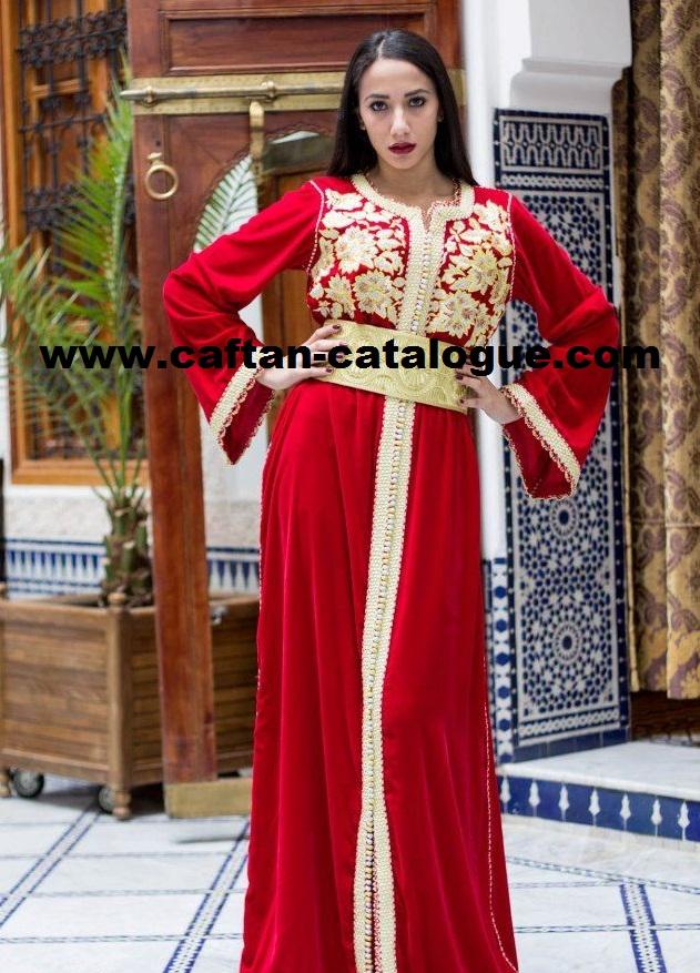 Caftan marocain rouge