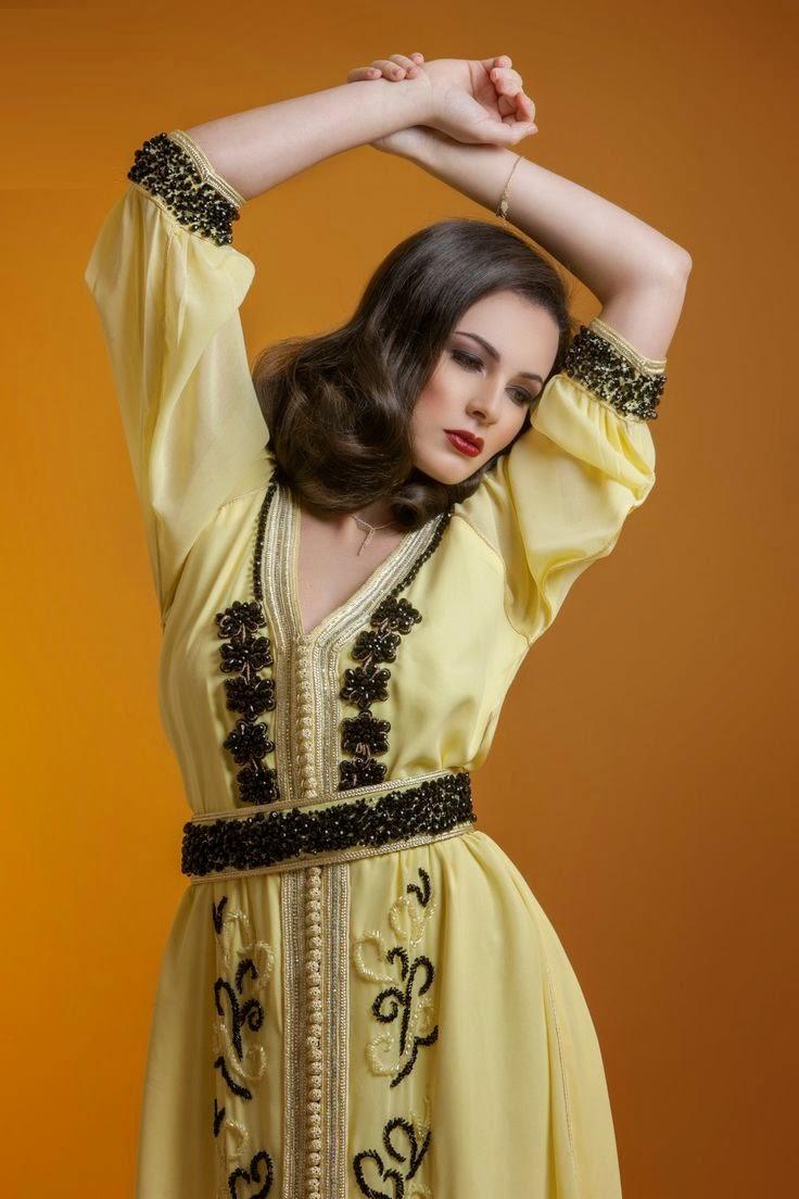 Robe haute couture marocaine