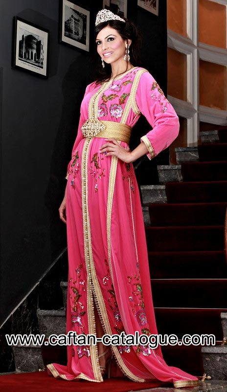 Takchita de luxe rose et dorée