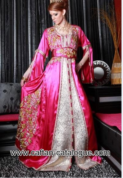 Takchita marocaine rose et dorée