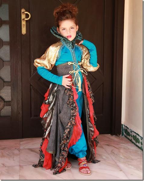 Caftan marocain sur mesure pas cher pour petite fille