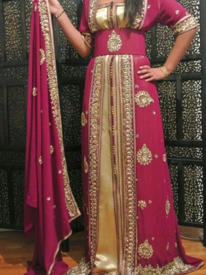 caftan sari indien  pour mariage nouveau design