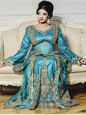 caftan sari indien style moderne pour mariage