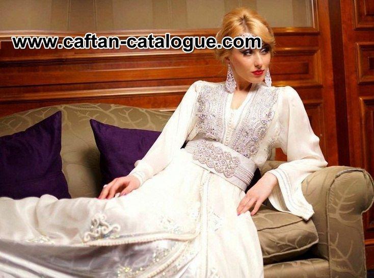 Caftan blanc de mariage et Robes