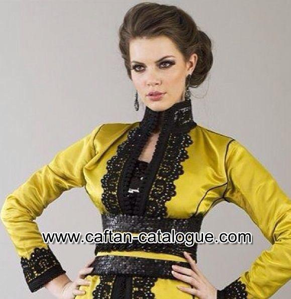 Caftan mariée doré haute couture