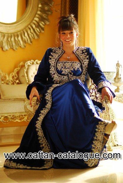 Caftan velours bleu 2015
