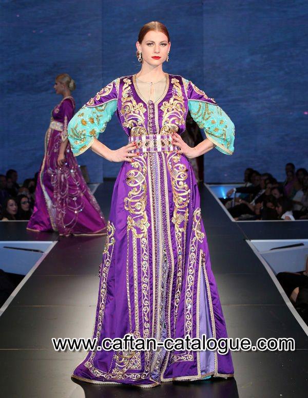 64b728b964b Merveilleuse takchita marocaine en violet - caftan catalogue