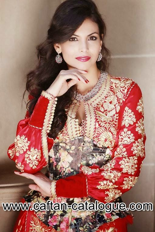 Takchita marocaine couleur rouge