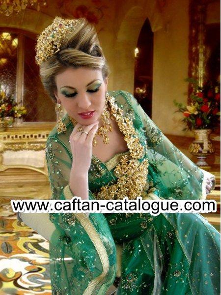 Takchita marocaine en vert