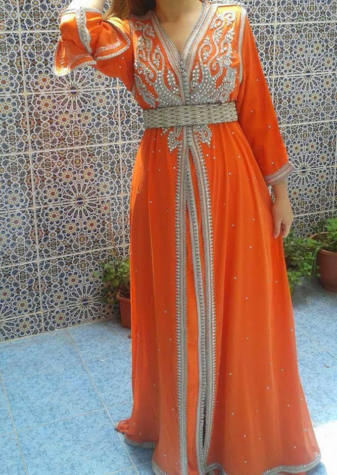 caftan orange tendances