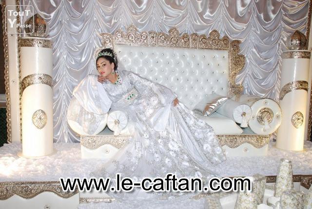 Caftan de couleur blanc pour mariage 2016