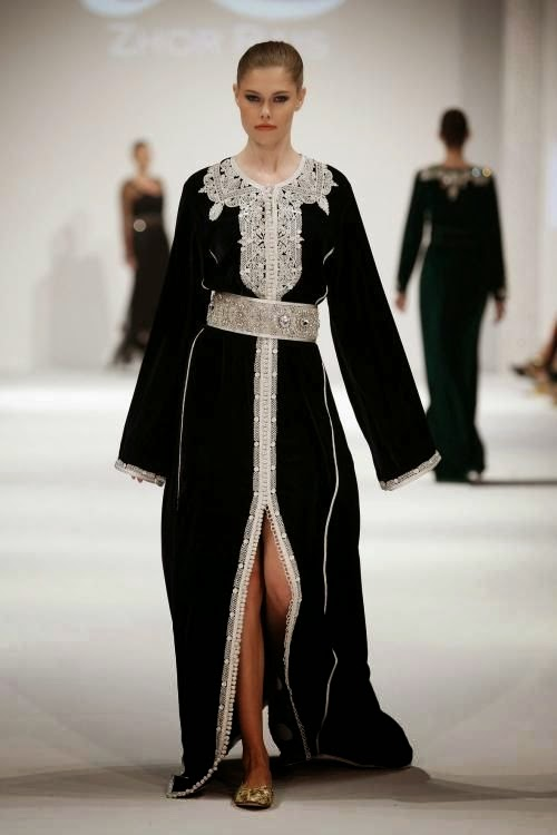 caftan simple noir