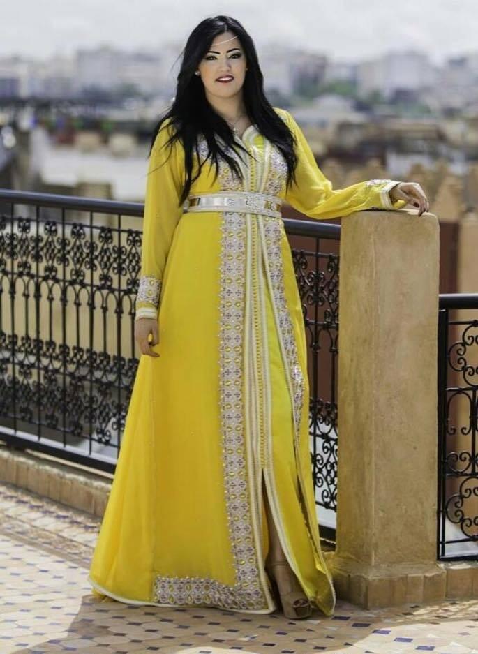 le jaune et le caftan marocain