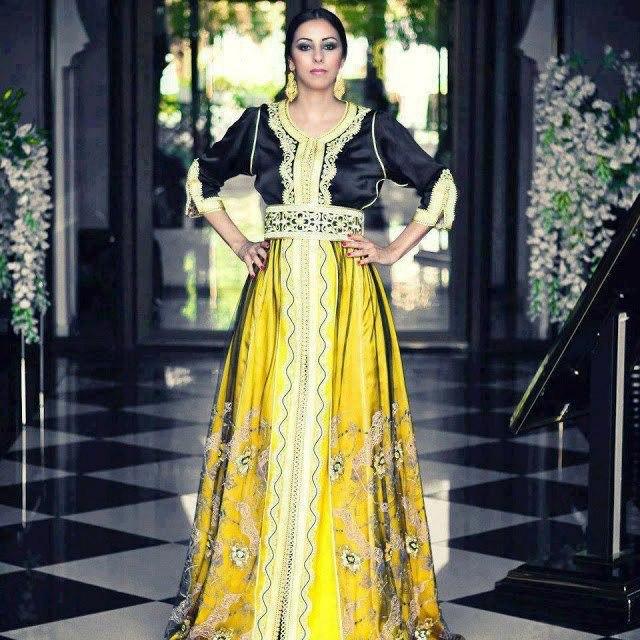 takchita marocain en noir et jaune