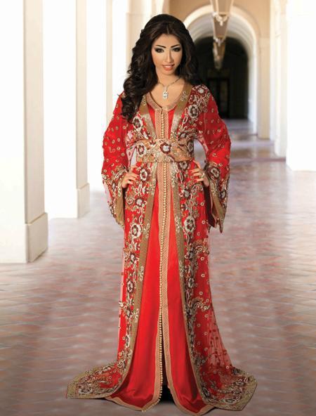 caftan rouge marocain pour mariage