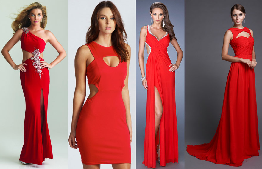 robe-soire-rouge-moderne