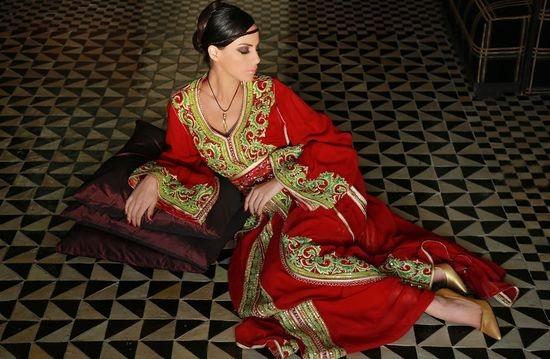 takchita rouge pour mariage