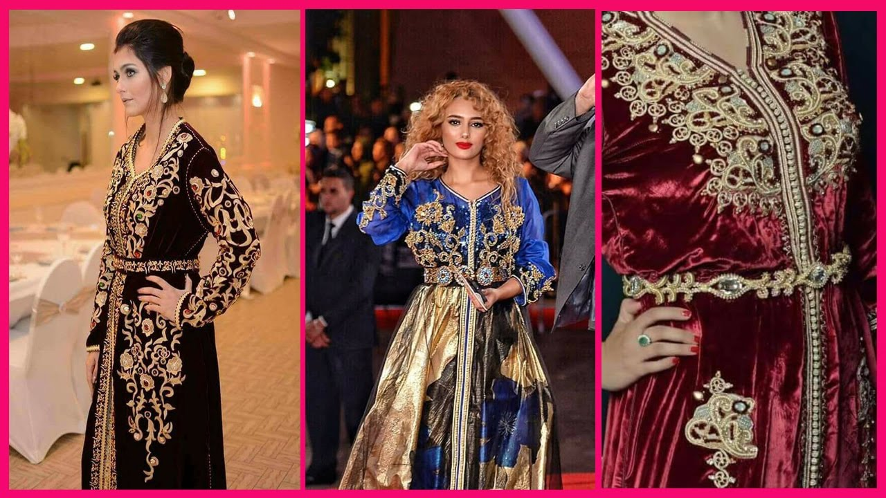 trois types de caftan marocain mode 2017